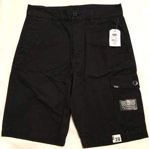 NWT Vans Black Fronted Cargo Shorts 28